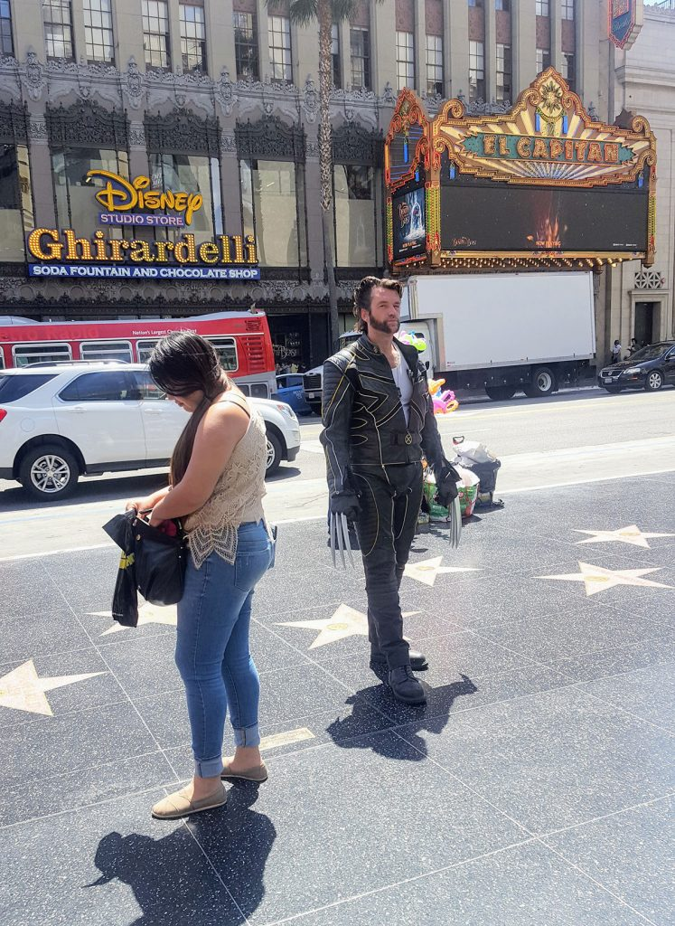 Wolverine à Hollywood Boulevard Maman Dream