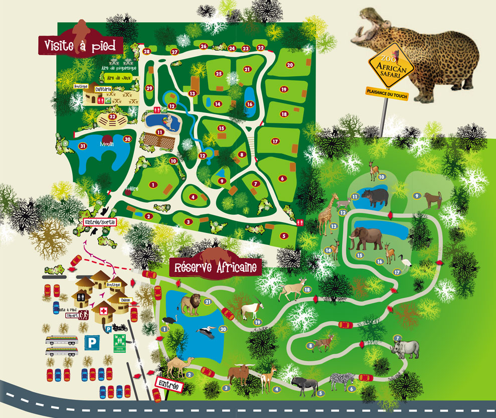 Plan zoo Toulouse Maman Dream